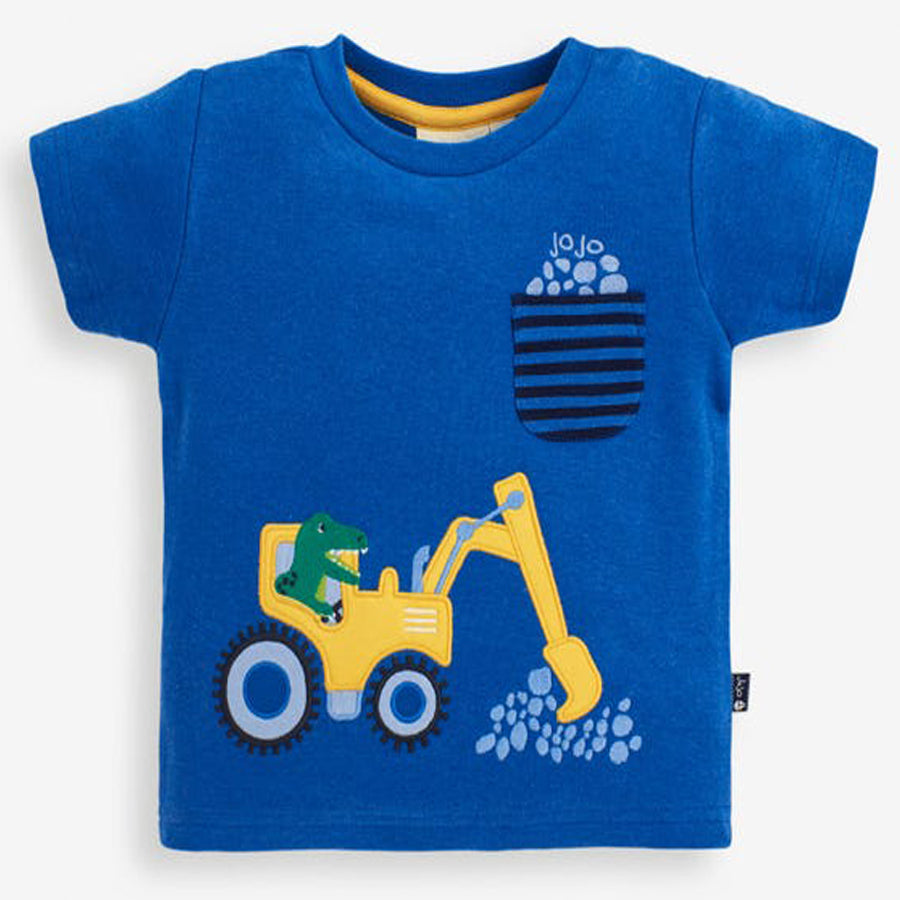 T-Rex & Digger Applique T-Shirt
