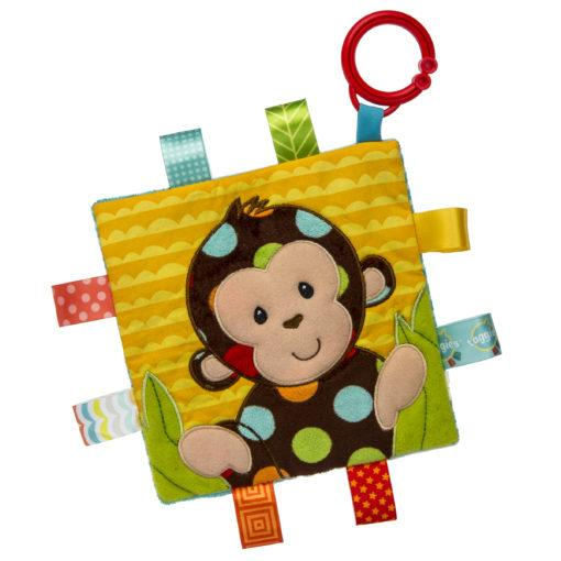 Taggies Crinkle Me Dazzle Dots Monkey – 6.5×6.5″ - Mary Meyer - joannas-cuties