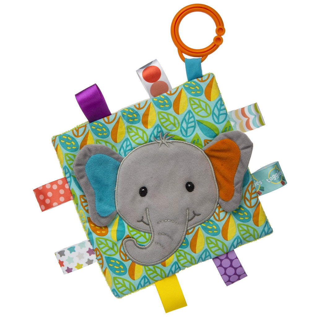 Taggies Crinkle Me Little Leaf Elephant – 6.5×6.5″ - Mary Meyer - joannas-cuties
