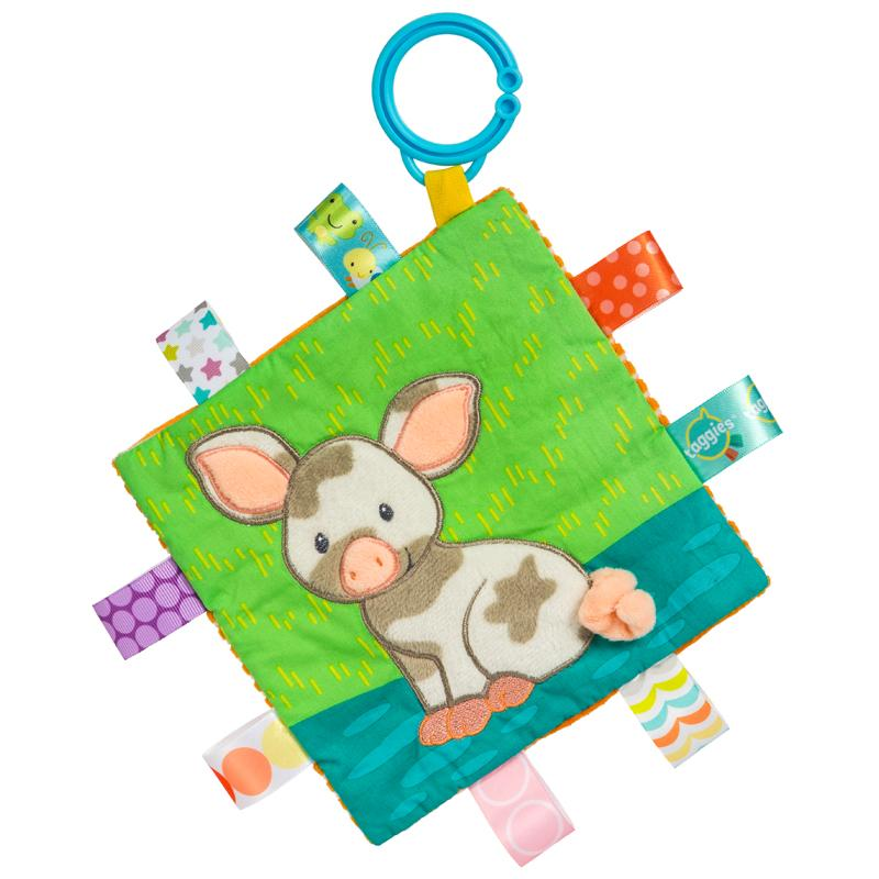 Taggies Crinkle Me Patches Pig – 6.5×6.5″-Mary Meyer-joannas_cuties