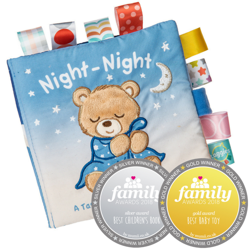 Taggies Starry Night Teddy Soft Book – 6×6″ - Mary Meyer - joannas-cuties