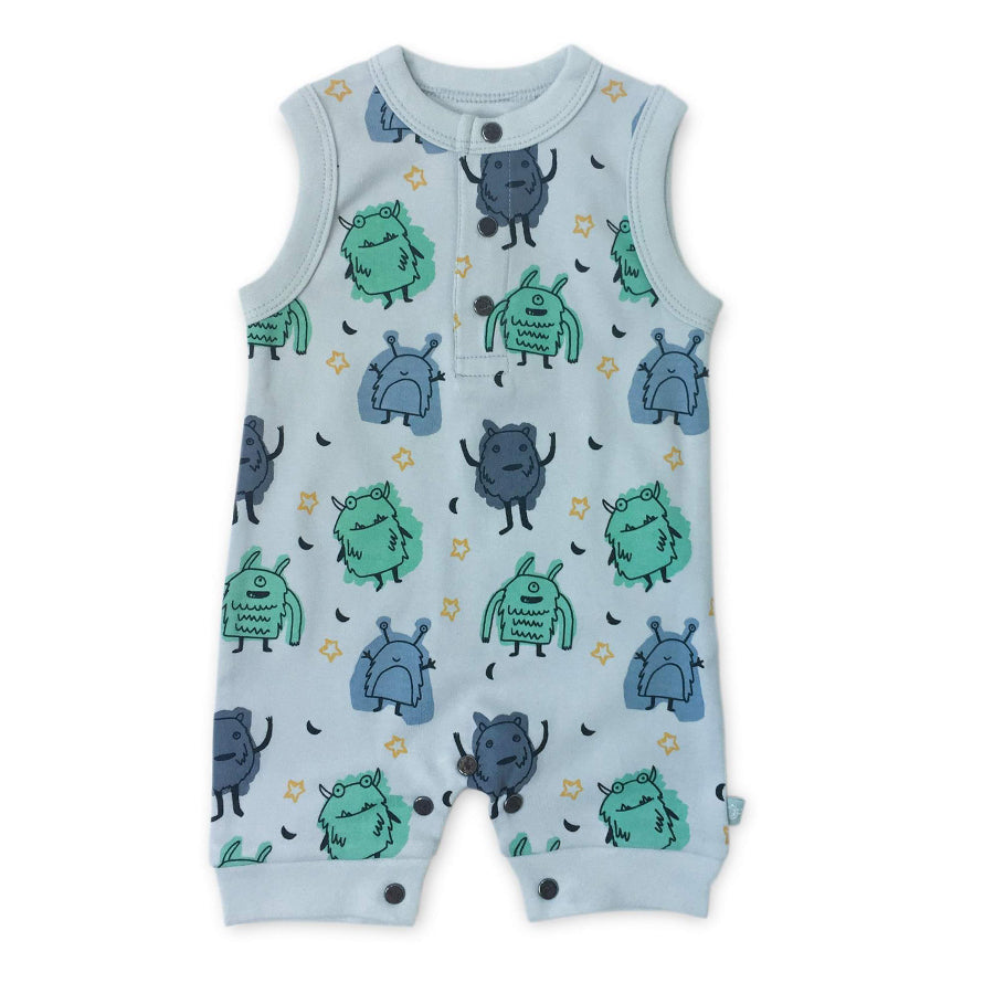 Tank Romper - Monsters - Finn + Emma - joannas-cuties
