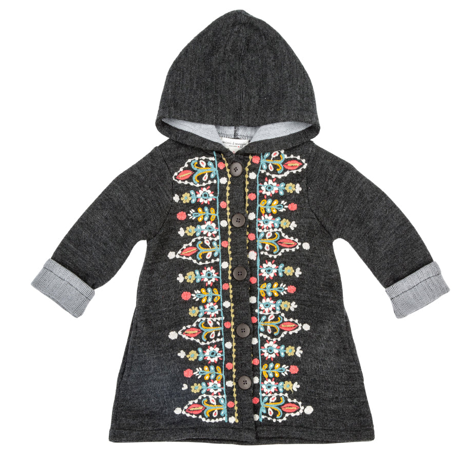 Tapestry Embroidered Coat Sweater - Mimi & Maggie - joannas-cuties