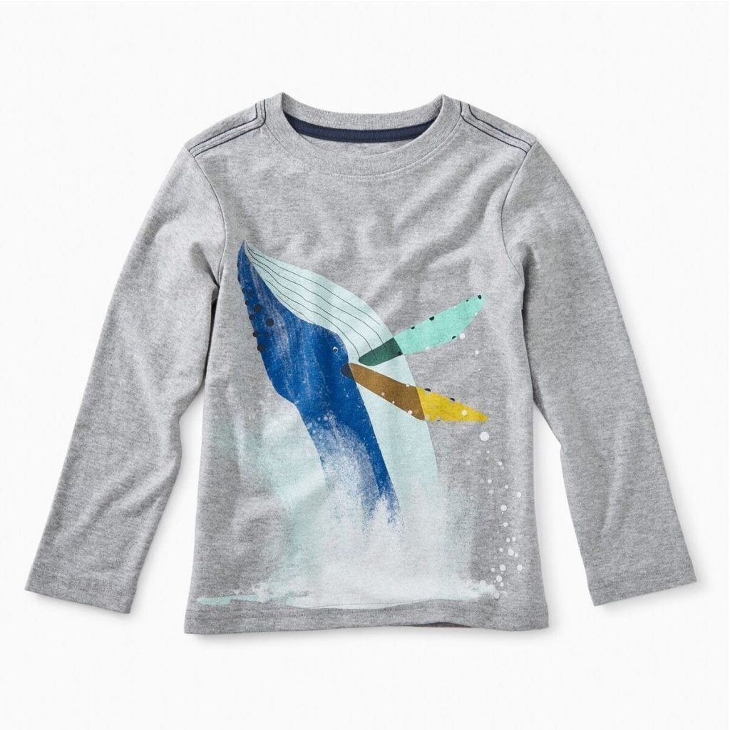 Tea Collection Whale Splash Graphic Tee - Tea - joannas-cuties