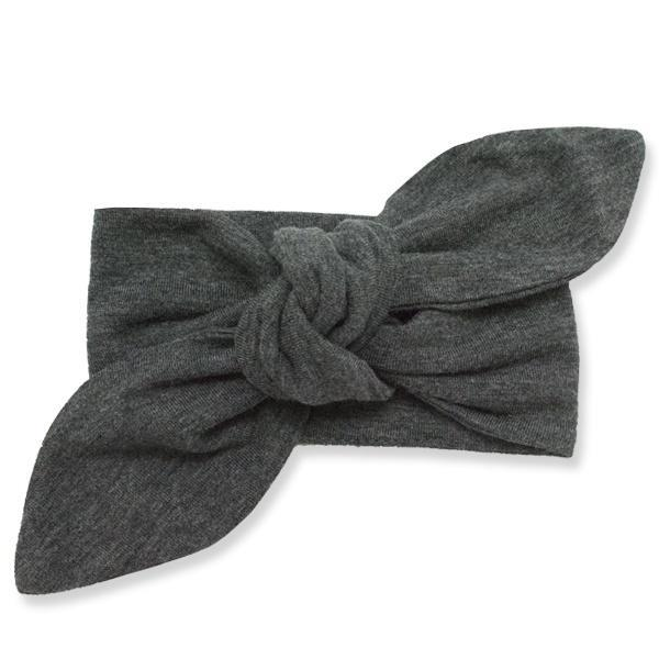 Tie Turban Bamboo Headband - Charcoal Heather-Oh Baby-Joanna's Cuties