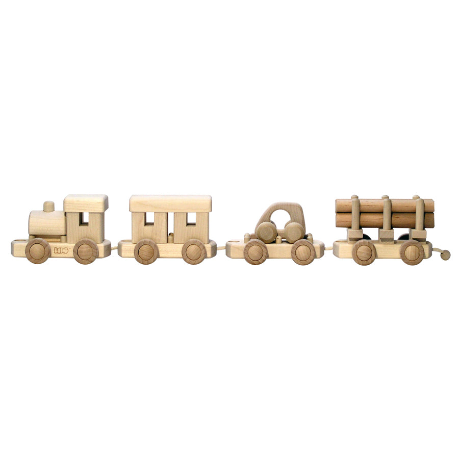 Train To Build wooden Puzzle Toy- Natural