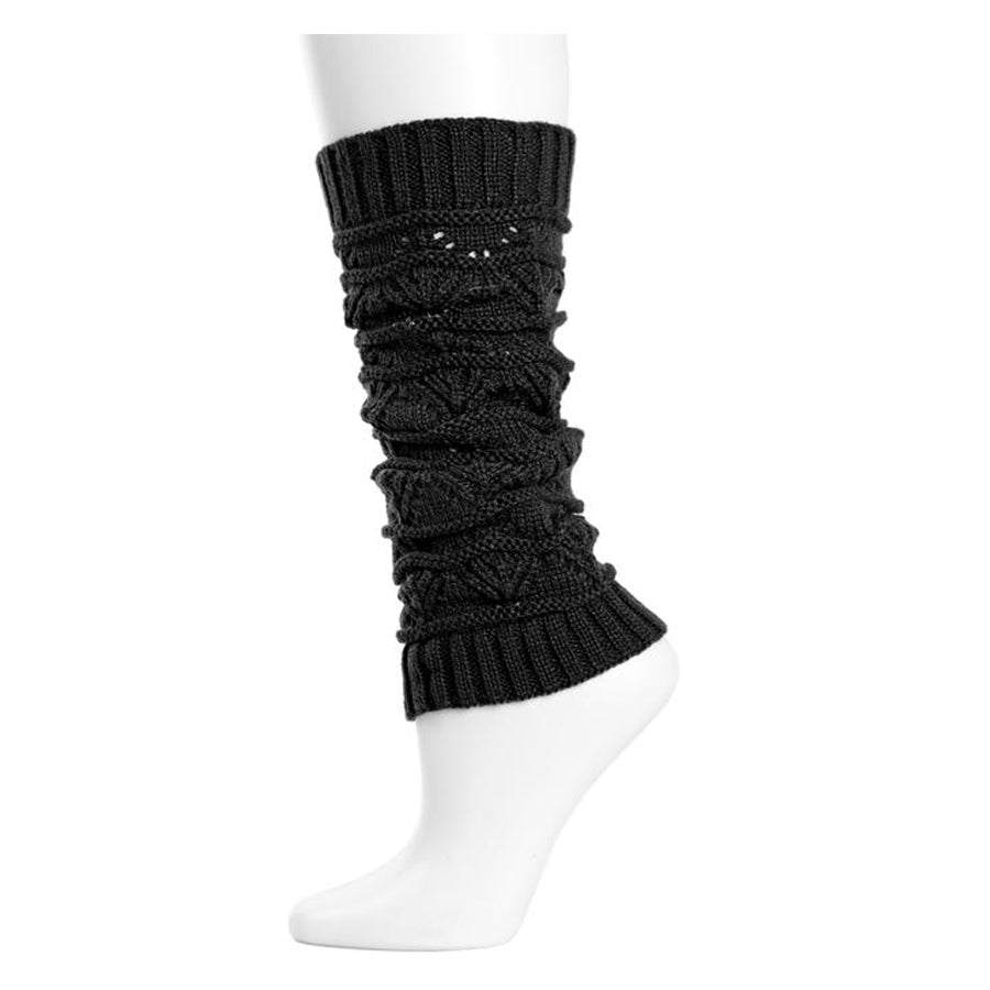 Triangle Scallop Girls Legwarmers - Dark Gray