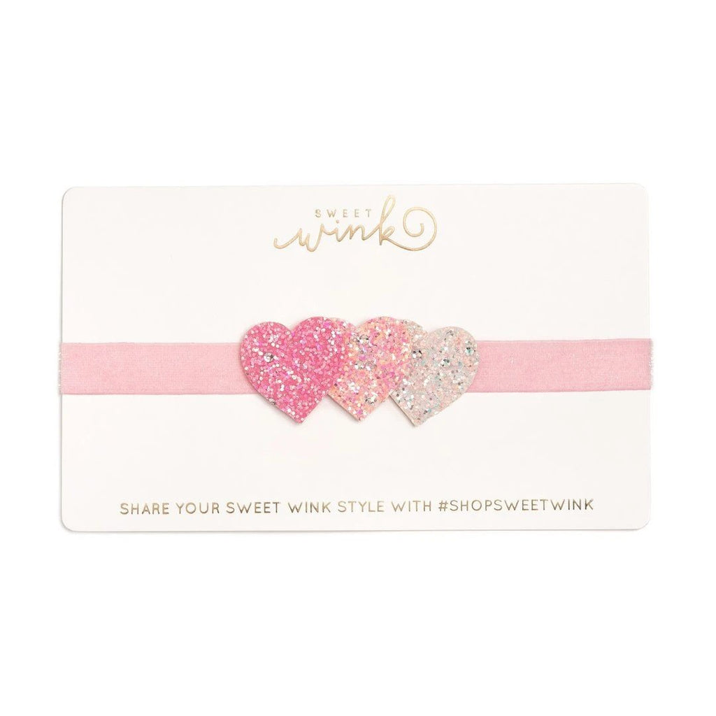 Triple Heart Soft Headband - Sweet Wink - joannas-cuties
