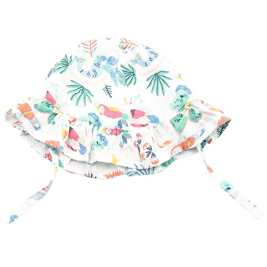 Tropical Birds Ruffle Sun Hat