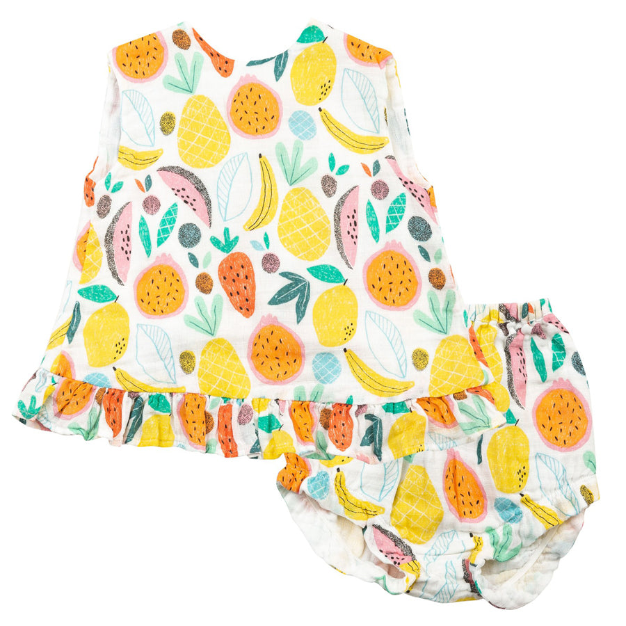Tropical Fruit Ruffle Top & Bloomer-Angel Dear-Joanna's Cuties