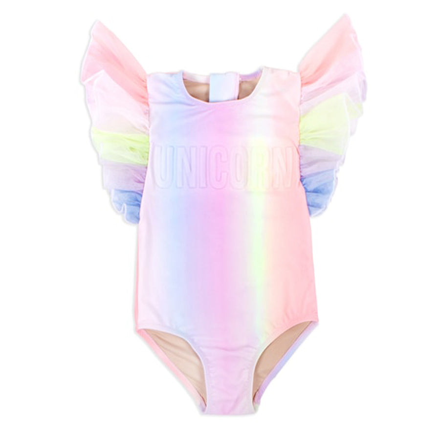 Tulle Sleeve One Piece- Rainbow Unicorn
