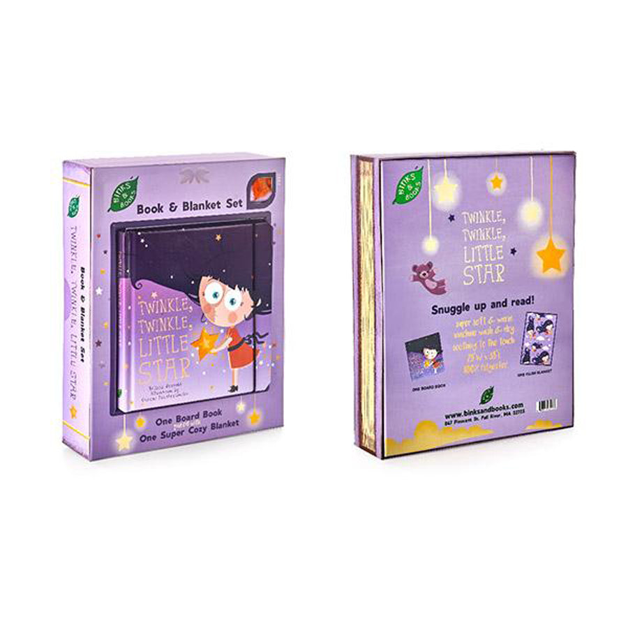 Twinkle, Twinkle, Little Star Book And Blanket Set-Binks And Books-Joanna's Cuties