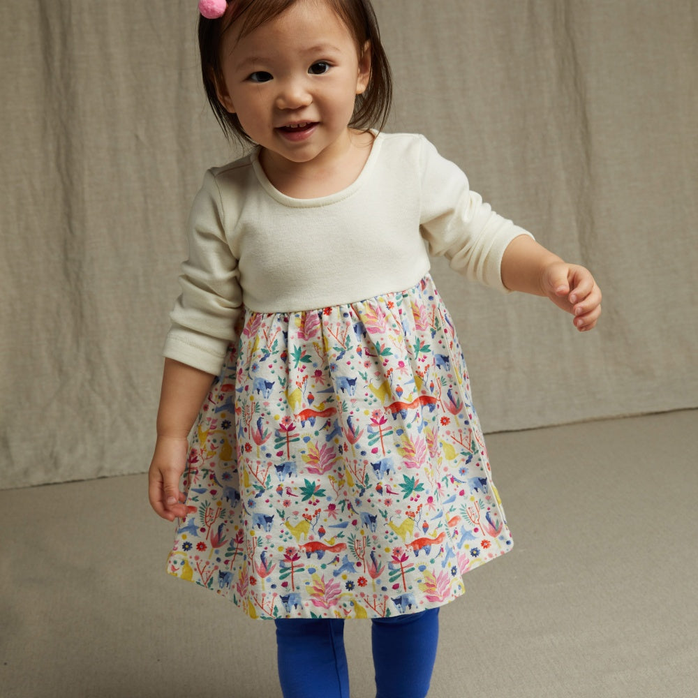 Two-Tone Baby Dress - Tea - joannas-cuties