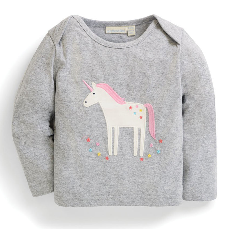 Unicorn Baby Top - JoJo Maman Bebe - joannas-cuties