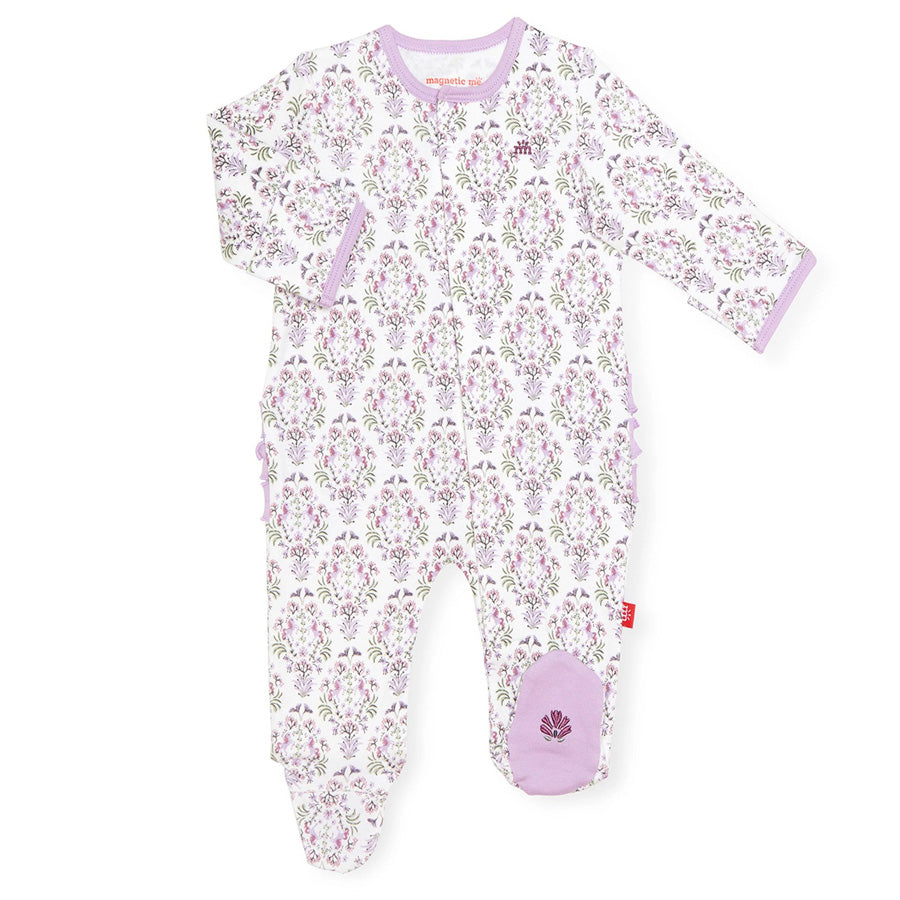 Unicorn Dreams Organic Cotton Magnetic Footie-Magnetic Me-Joanna's Cuties