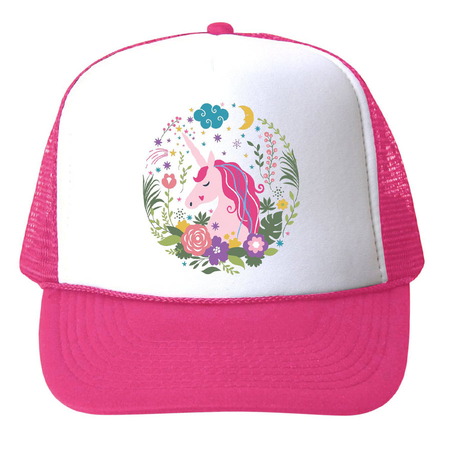 Unicorn Floral Hat-Bubu-Joanna's Cuties