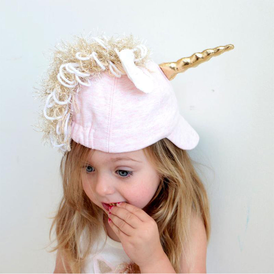 Character Hat - Star Unicorn - Pale Pink-Oh Baby-Joanna's Cuties