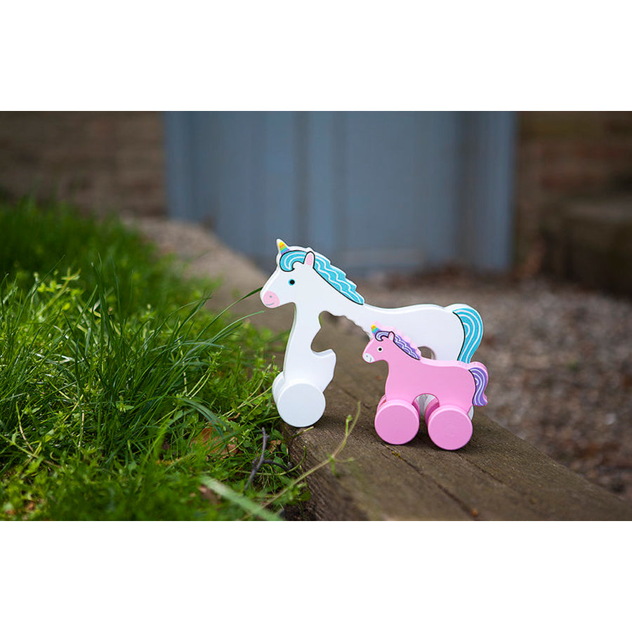 Unicorn Mommy And Baby Rolling Toy - Jack Rabbit Creations - joannas-cuties