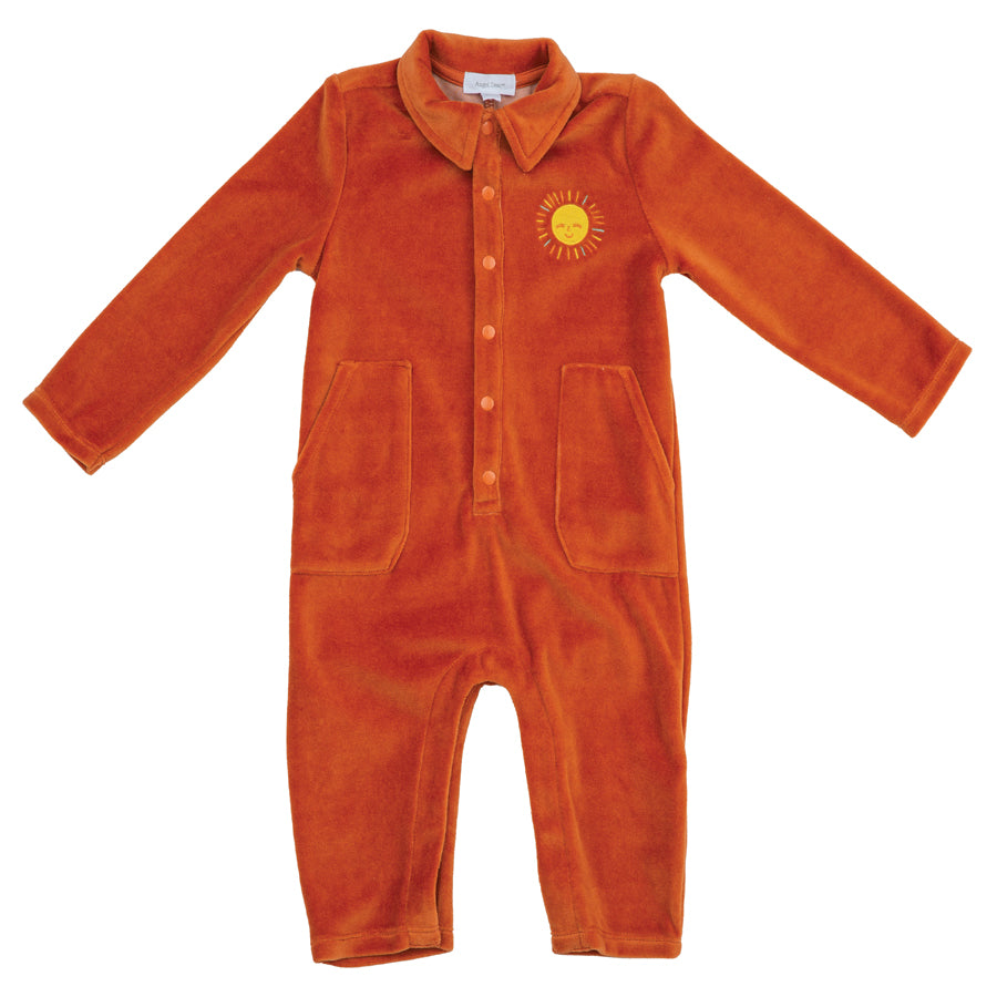 Velour Jumpsuit Rust-Angel Dear-Joanna's Cuties