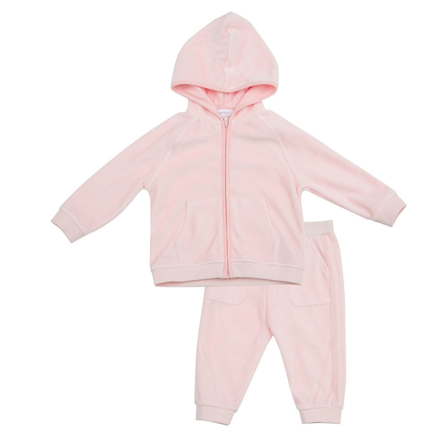 Velour Jogging Suit Pink-Angel Dear-Joanna's Cuties