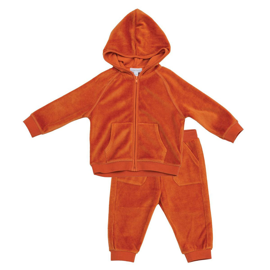 Velour Jogging Suit Rust-Angel Dear-Joanna's Cuties