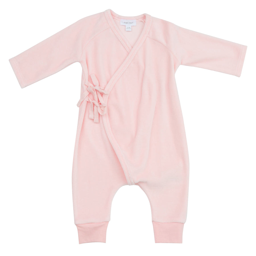 Velour Wrap Coverall Pink-Angel Dear-Joanna's Cuties