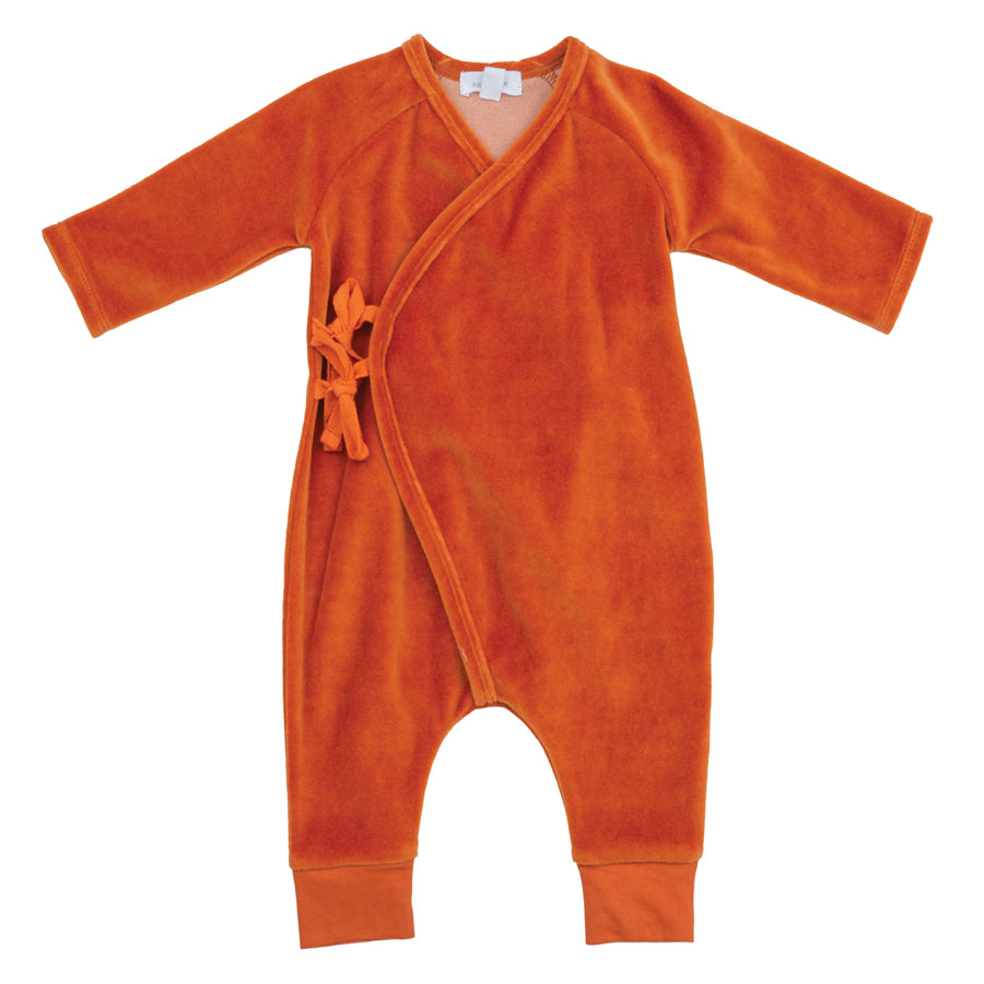 Velour Wrap Coverall Rust-Angel Dear-Joanna's Cuties