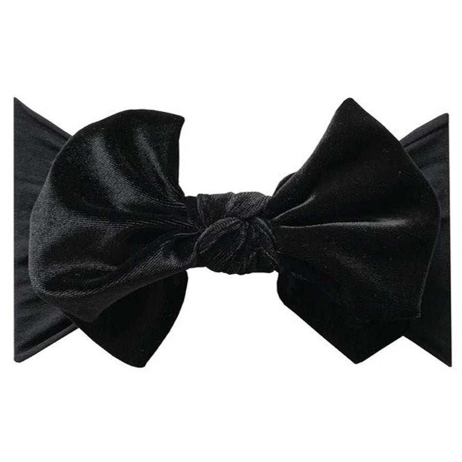 Velvet Fab Headband - Black-Baby Bling-Joanna's Cuties