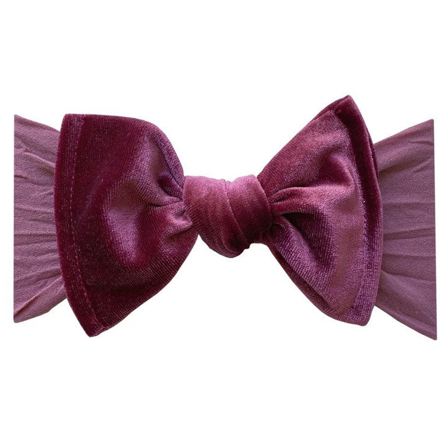 Velvet Knot Headband - Winterberry-Baby Bling-Joanna's Cuties