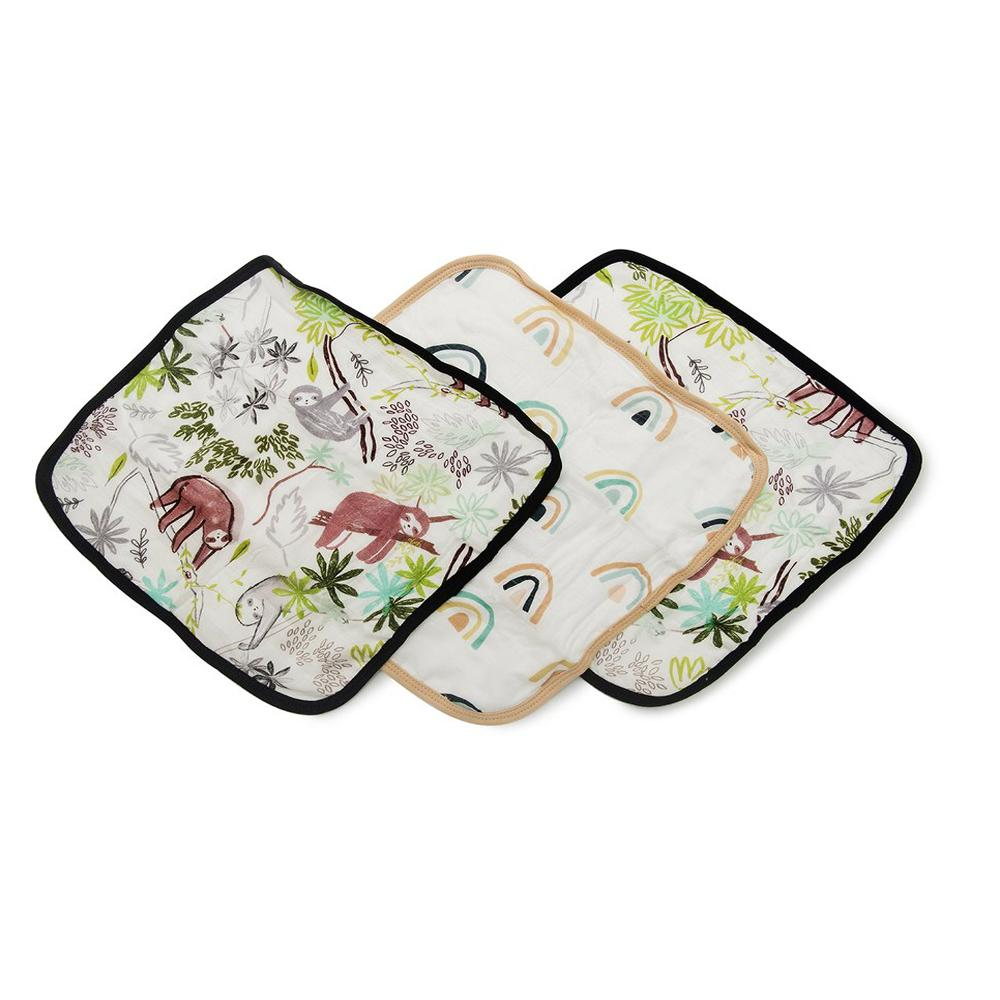 Washcloth 3-Pieces Set - Sloth-LouLou Lollipop-Joanna's Cuties