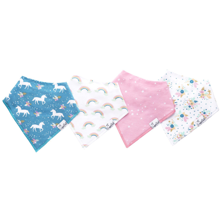 Whimsy Baby Bandana Bib Set - Copper Pearl - joannas-cuties