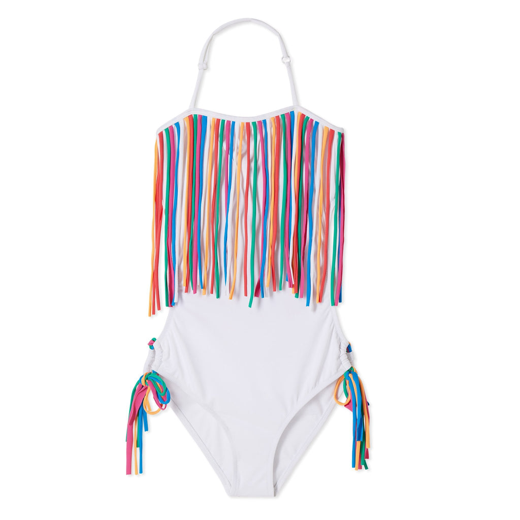 White Fringe Swimsuit - Stella Cove - joannas-cuties