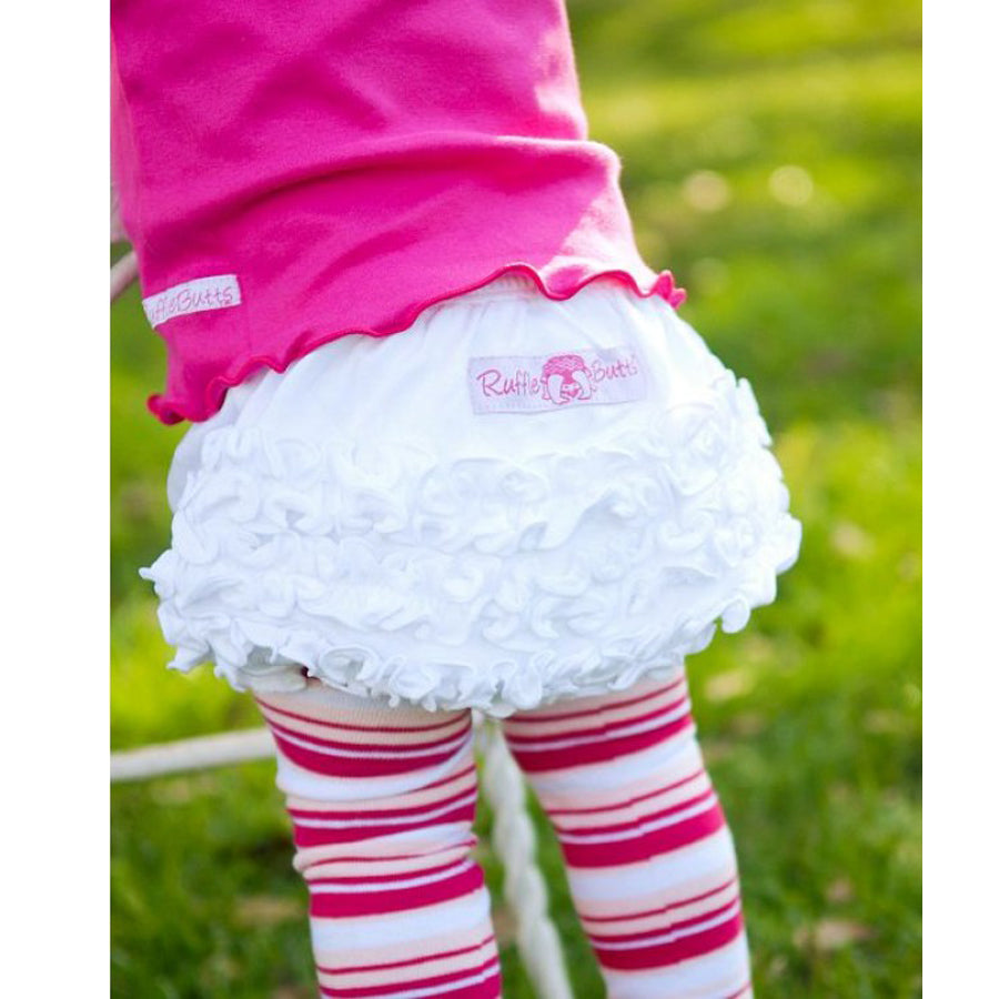 White Knit RuffleButt - Ruffle Butts - joannas-cuties