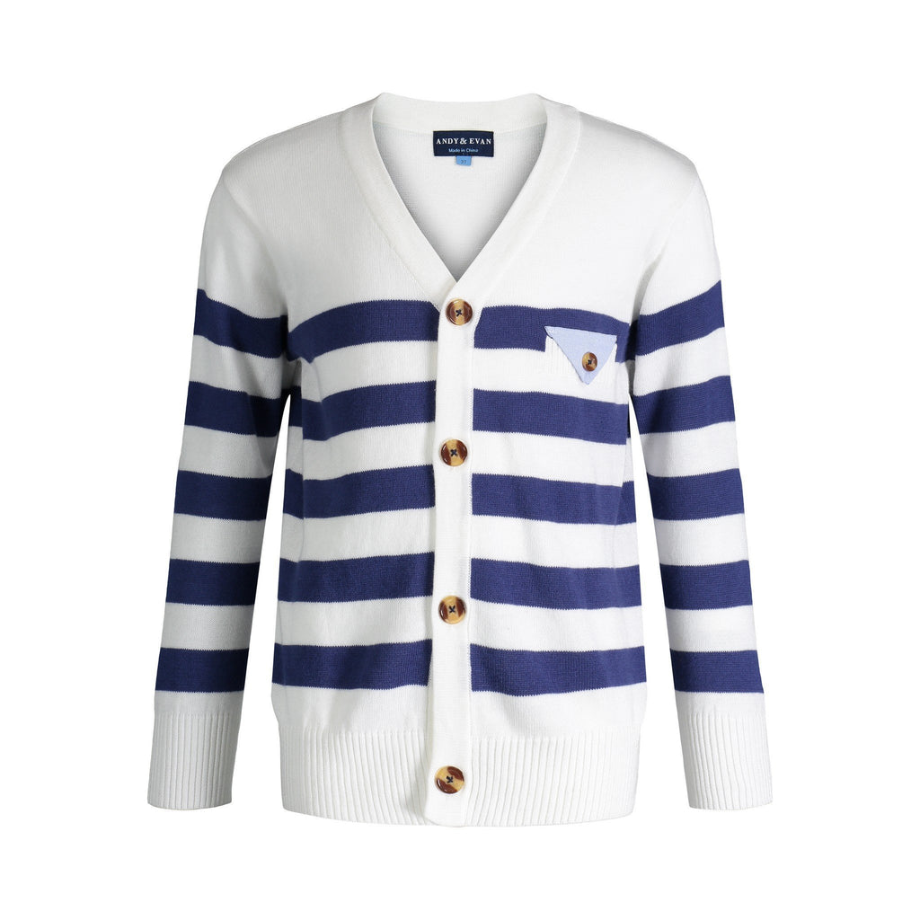 White Varsity Sweater - Andy & Evan - joannas-cuties
