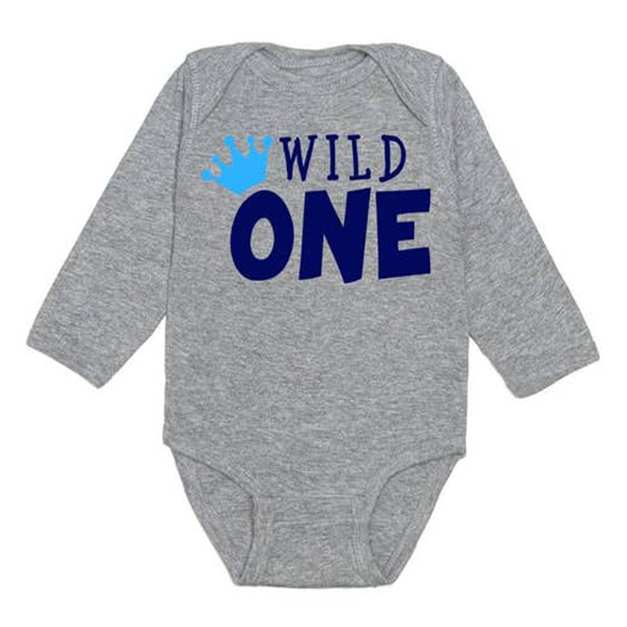 Wild One Long Sleeve Bodysuit-Sweet Wink-Joanna's Cuties