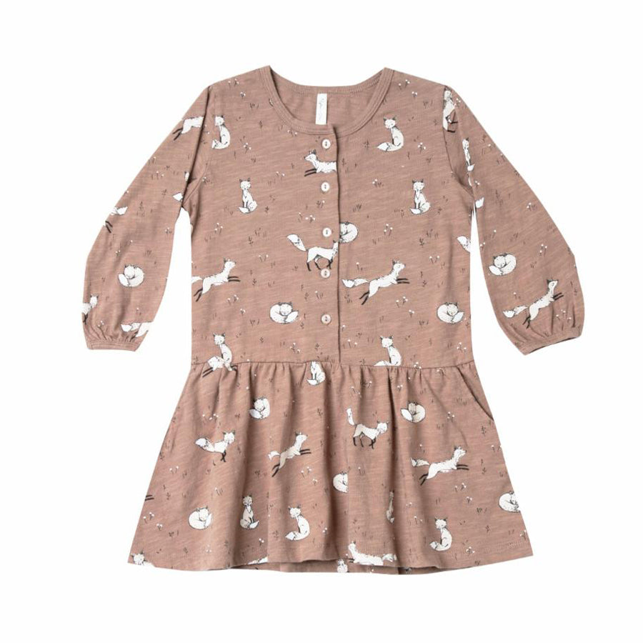 Winter Fox Button Up Dress, Rylee + Cru - Joanna's Cuties