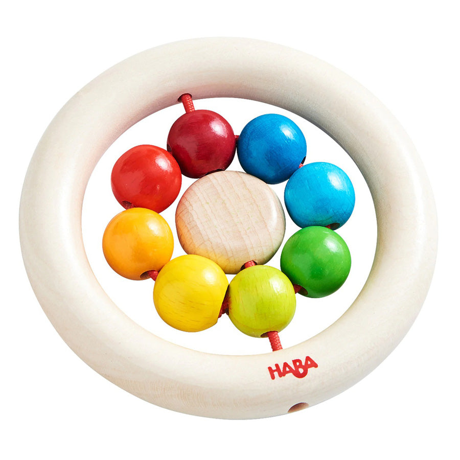 Wooden Clutching Toy Rainbow Balls-Haba-Joanna's Cuties