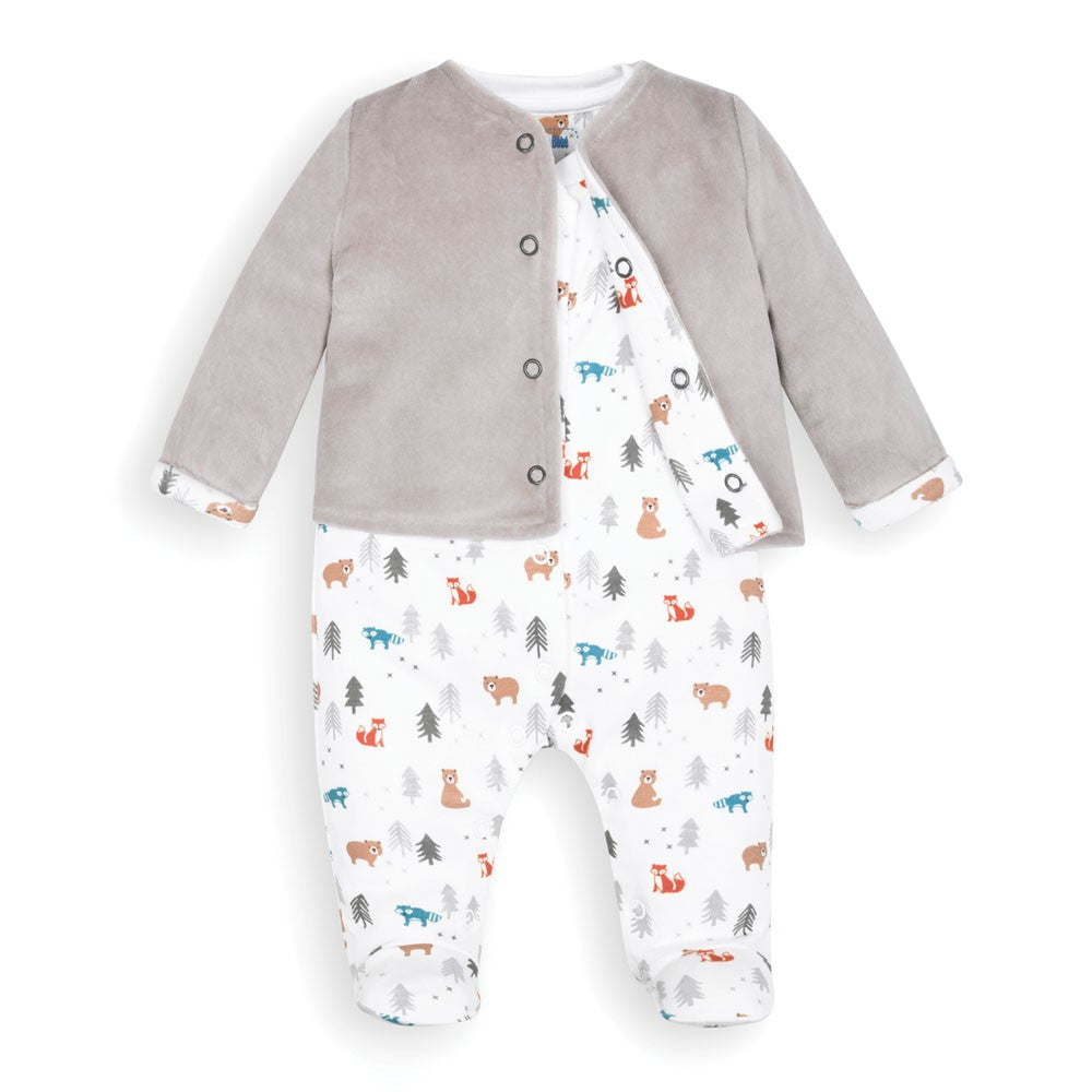 Woodland Baby Jacket & Footie Set - JoJo Maman Bebe - joannas-cuties