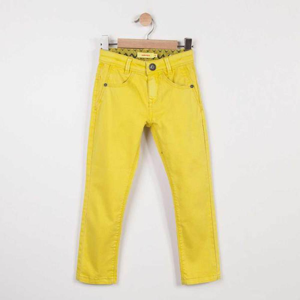 Yellow colored denim slim pants - Catimini - joannas-cuties