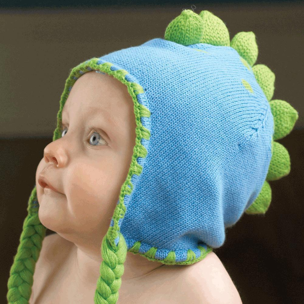 Dinosaur Cotton Knit Hat - Zubels - joannas-cuties