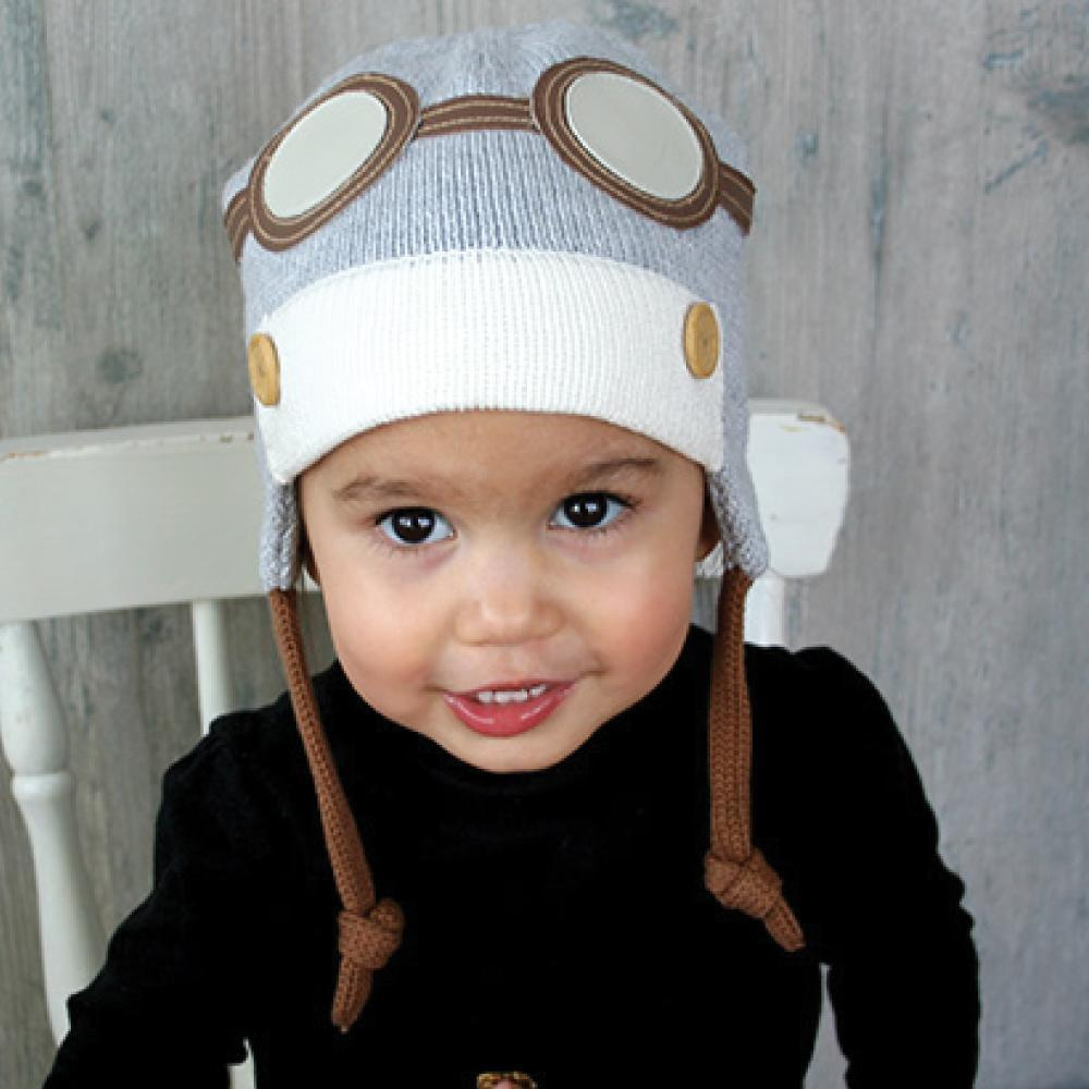 Airplane Knit Hat-Zubels-Joanna's Cuties