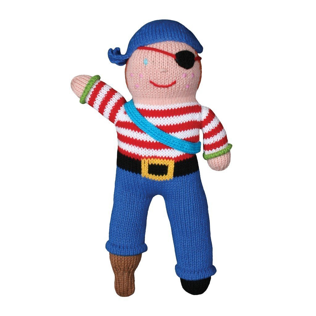 Arrr-Nee The Pirate - 7 Inch Rattle, Zubels - Joanna's Cuties