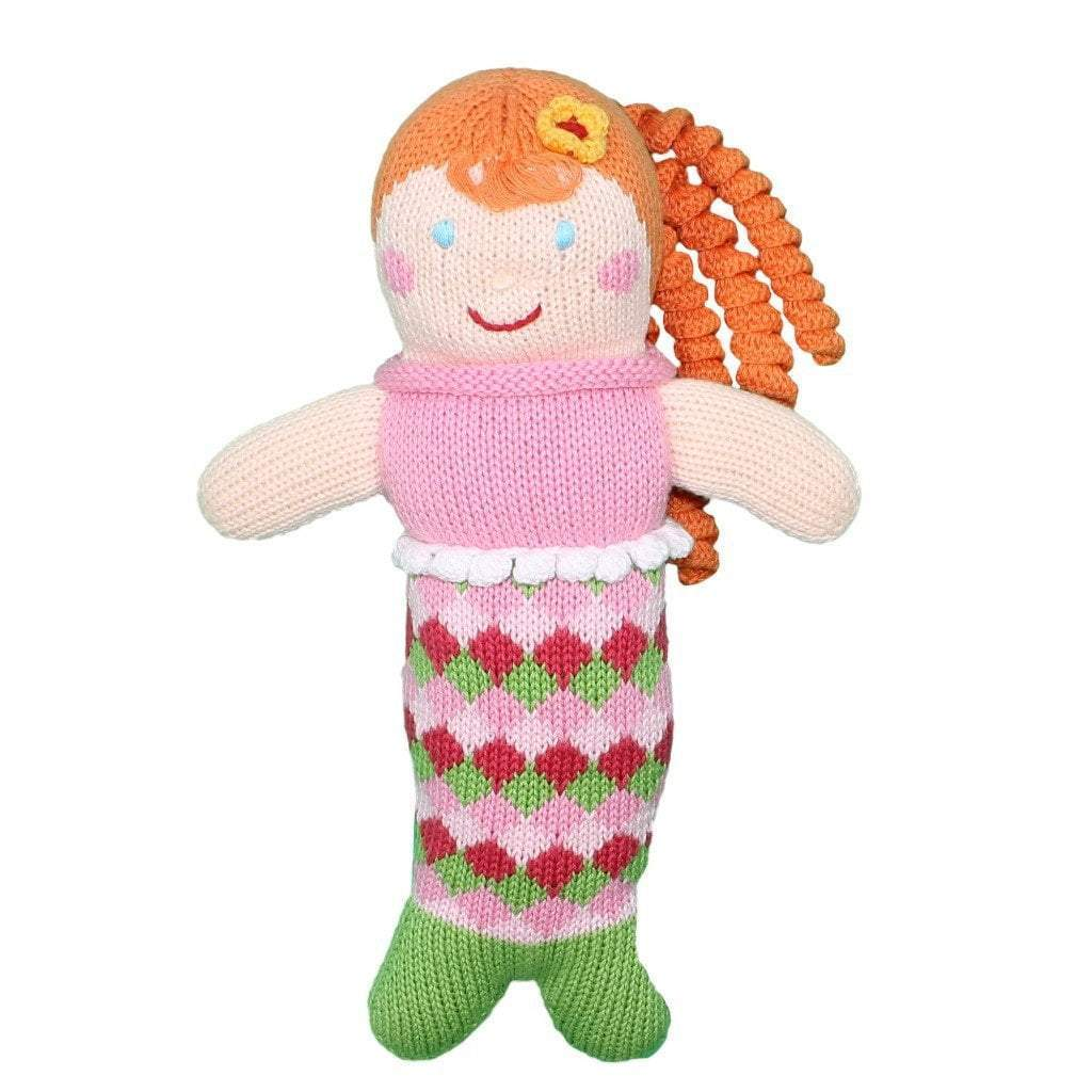 "Pearly Penny the Mermaid Rattle - 7"" - Zubels - joannas-cuties"