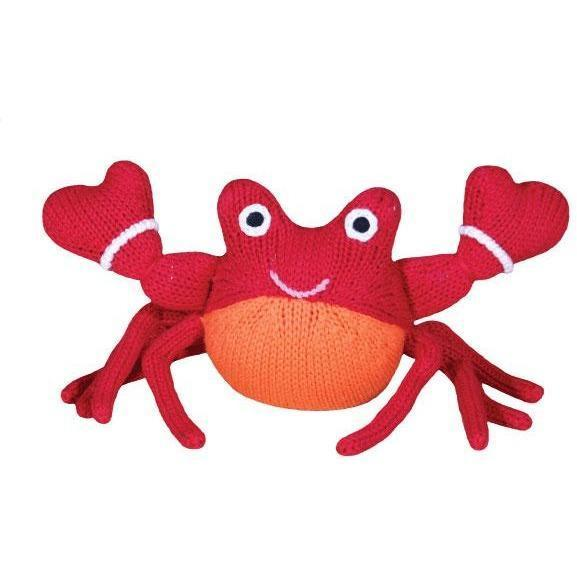 "Corey the Crab Rattle - 6"", Zubels - Joanna's Cuties"