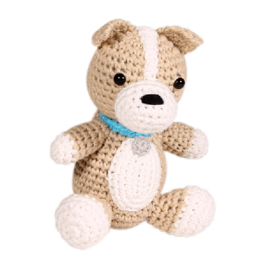 "Dog Crochet Dimple Rattle - 4"", Zubels - Joanna's Cuties"