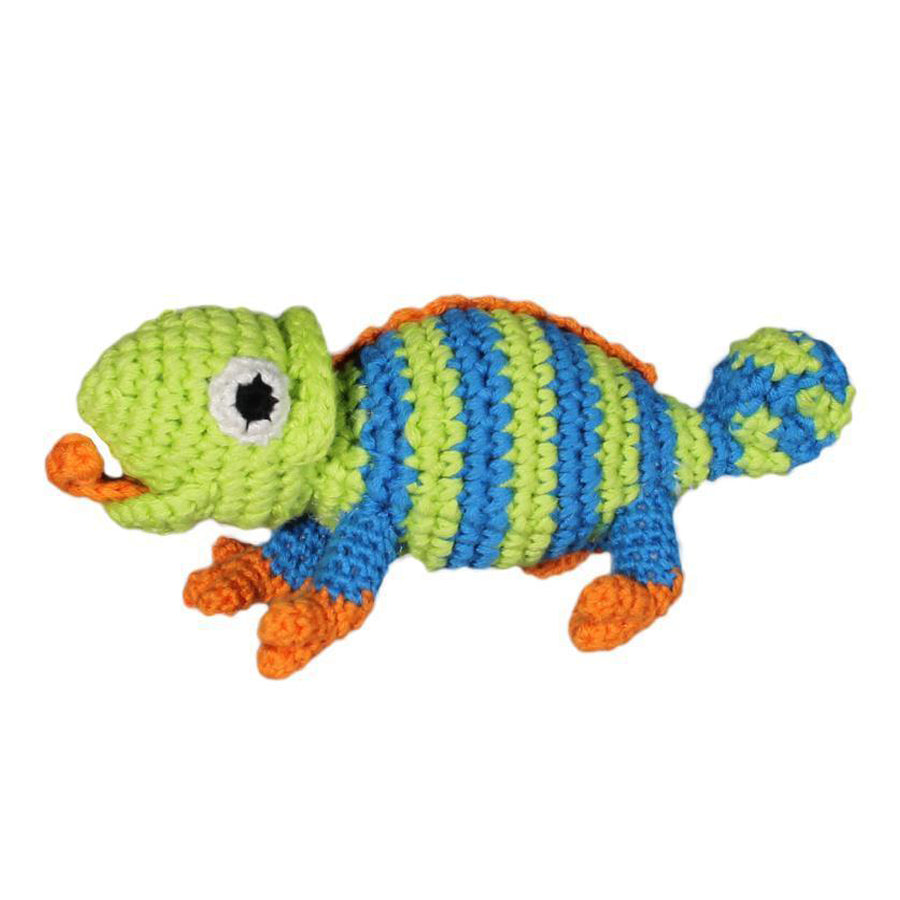 "Lizard Crochet Dimple Rattle - 5"" - Zubels - joannas-cuties"