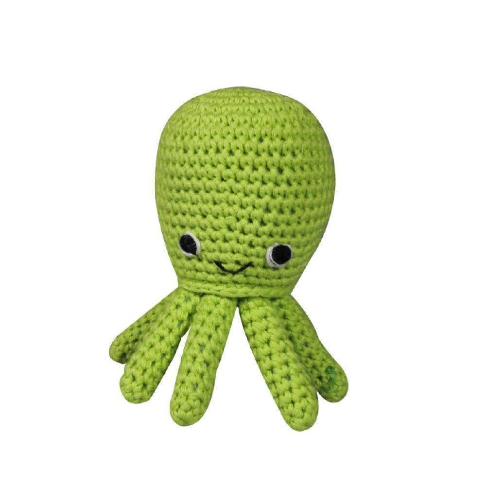 Octopus Crochet Dimple Rattle, Zubels - Joanna's Cuties