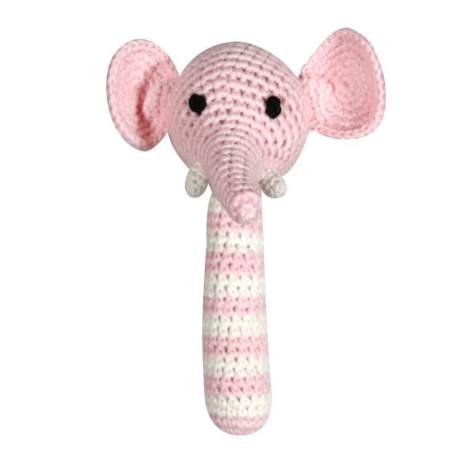 Elephant Stick Rattle, Zubels - Joanna's Cuties