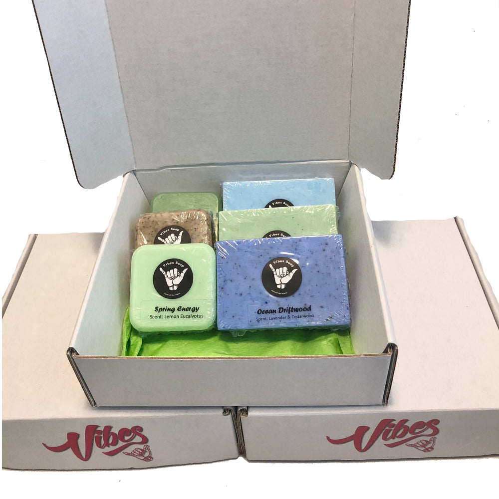 Gift Box of various bars of soap for men