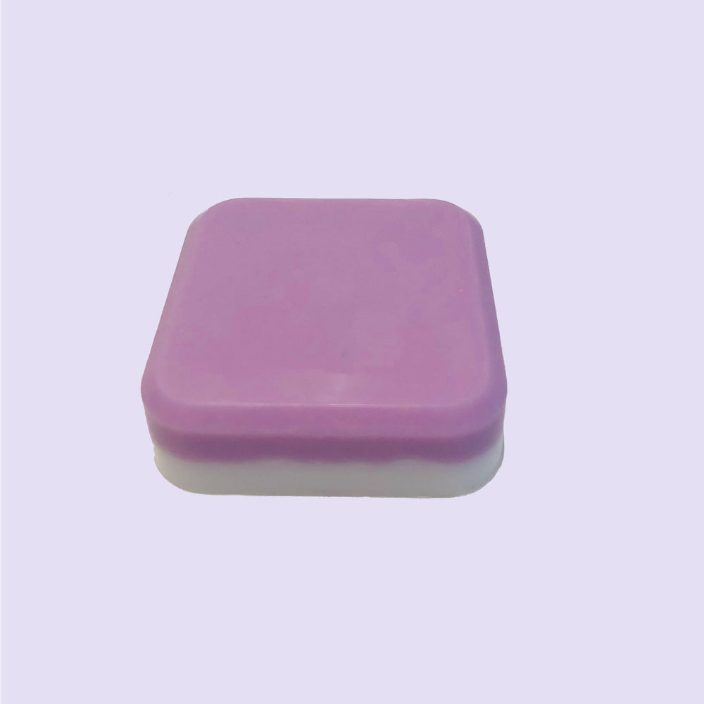 Handmade mini bar of soap made with Lavender essential oil